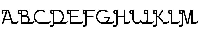 BPscript Font UPPERCASE