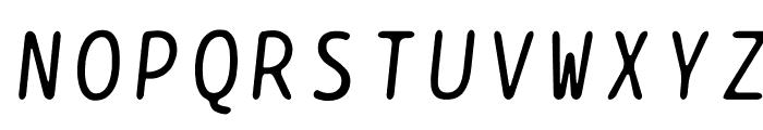 BPtypewrite-Italic Font UPPERCASE
