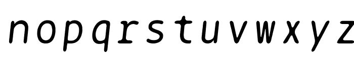 BPtypewrite-Italic Font LOWERCASE