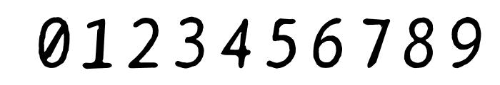 BPtypewriteDamaged-Italic Font OTHER CHARS