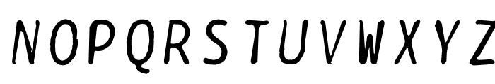 BPtypewriteDamaged-Italic Font UPPERCASE