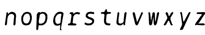 BPtypewriteDamaged-Italic Font LOWERCASE
