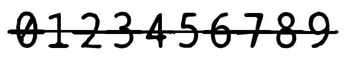 BPtypewriteDamagedStrikethrough Font OTHER CHARS