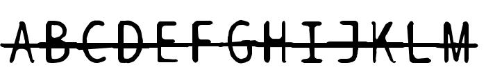 BPtypewriteDamagedStrikethrough Font UPPERCASE