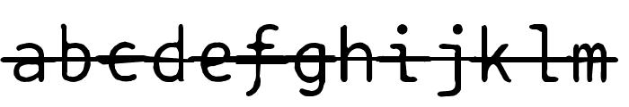 BPtypewriteDamagedStrikethrough Font LOWERCASE