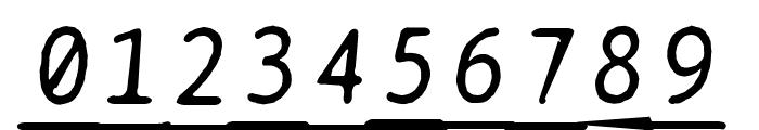 BPtypewriteDamagedUnderscored Italic Font OTHER CHARS