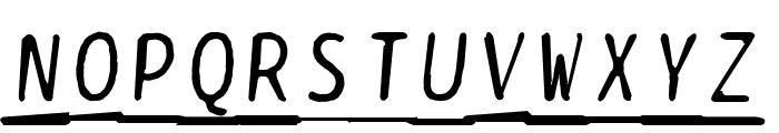 BPtypewriteDamagedUnderscored Italic Font UPPERCASE