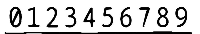 BPtypewriteDamagedUnderscored Font OTHER CHARS