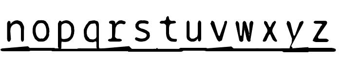 BPtypewriteDamagedUnderscored Font LOWERCASE