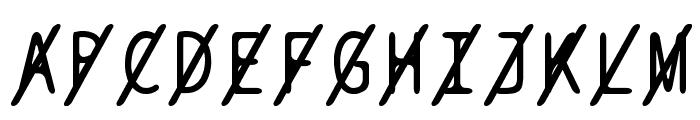 BPtypewriteSlashed Font UPPERCASE