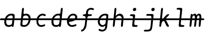 BPtypewriteStrikethrough Italic Font LOWERCASE