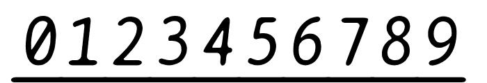 BPtypewriteUnderscored Italic Font OTHER CHARS