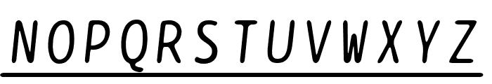 BPtypewriteUnderscored Italic Font UPPERCASE