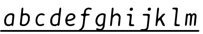BPtypewriteUnderscored Italic Font LOWERCASE