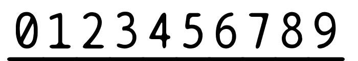 BPtypewriteUnderscored Font OTHER CHARS