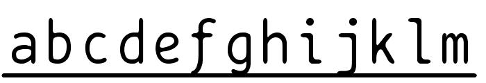 BPtypewriteUnderscored Font LOWERCASE