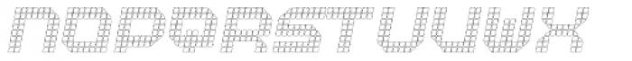 Bpositive Outline Italic Font UPPERCASE