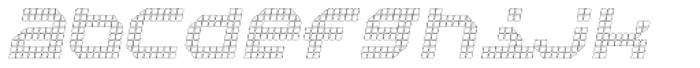 Bpositive Outline Italic Font LOWERCASE