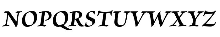 BriosoPro-BoldIt Font UPPERCASE