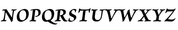 BriosoPro-BoldItCapt Font UPPERCASE