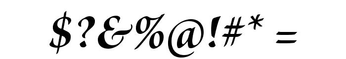 BriosoPro-BoldItSubh Font OTHER CHARS
