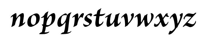 BriosoPro-BoldIt Font LOWERCASE