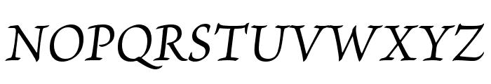 BriosoPro-ItCapt Font UPPERCASE