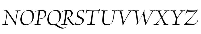 BriosoPro-ItDisp Font UPPERCASE