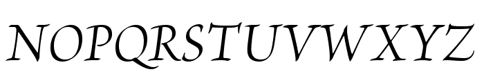 BriosoPro-ItSubh Font UPPERCASE