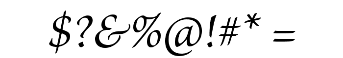 BriosoPro-Italic Font OTHER CHARS
