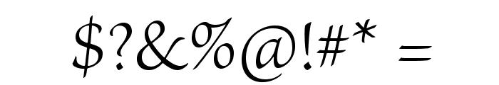 BriosoPro-Light Font OTHER CHARS