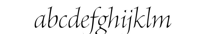 BriosoPro-LightItDisp Font LOWERCASE