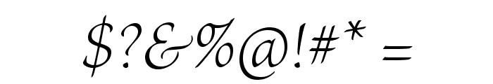 BriosoPro-LightItSubh Font OTHER CHARS