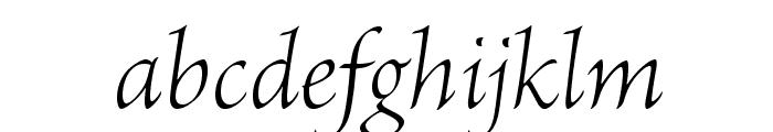 BriosoPro-LightItSubh Font LOWERCASE