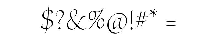 BriosoPro-LightPoster Font OTHER CHARS