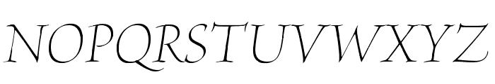 BriosoPro-LightPosterIt Font UPPERCASE