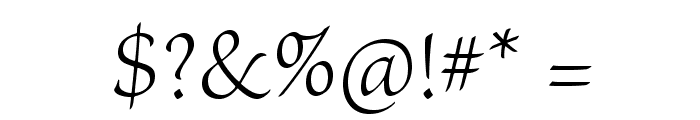 BriosoPro-LightSubh Font OTHER CHARS