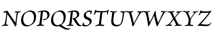 BriosoPro-MediumItCapt Font UPPERCASE