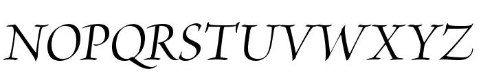 BriosoPro-MediumItDisp Font UPPERCASE