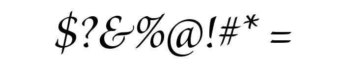 BriosoPro-MediumItSubh Font OTHER CHARS