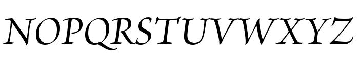 BriosoPro-MediumItSubh Font UPPERCASE