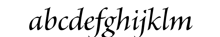 BriosoPro-MediumItSubh Font LOWERCASE
