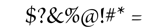 BriosoPro-MediumSubh Font OTHER CHARS