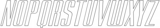BRANCHE Outline Italic otf (400) Font UPPERCASE