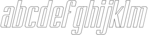 BRANCHE Outline Italic otf (400) Font LOWERCASE