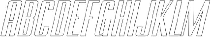BRANCHE Outline Italic ttf (400) Font UPPERCASE