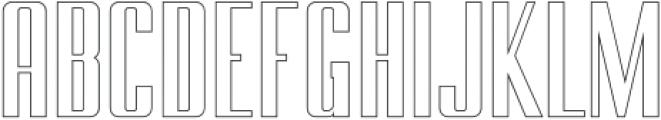 BRANCHE Outline otf (400) Font UPPERCASE