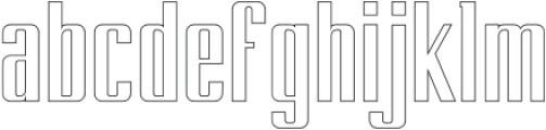 BRANCHE Outline otf (400) Font LOWERCASE