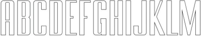BRANCHE Outline ttf (400) Font UPPERCASE
