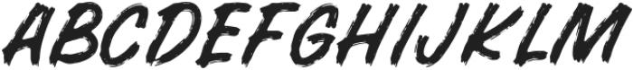 BRUSHERA Standard otf (400) Font LOWERCASE
